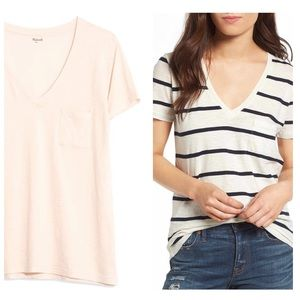 Bundle of 2 Madewell Tee Shirts Whisper Cotton V